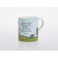 The Best Dog Bone China Cup