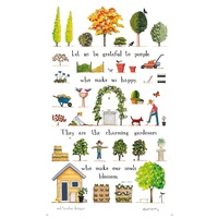 A Day in the Garden - Tea Towel
