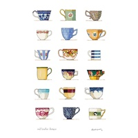 Teacups - Tea Towel