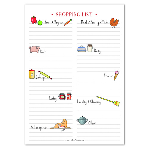 RTD Shopping List